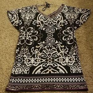 WHBM black mini dress S NWOT